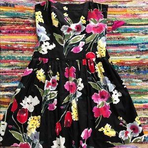 American living 12 black floral dress